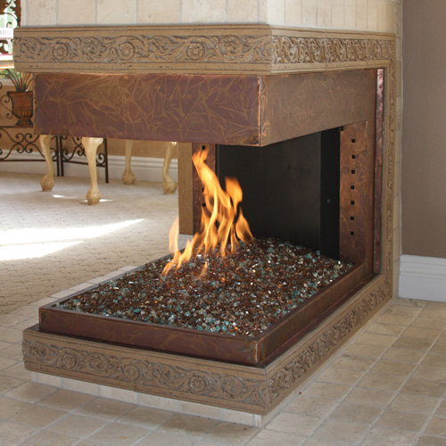 Fireplace With FireGlass Gems