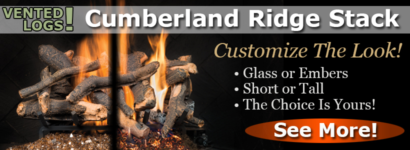 Cumberland Ridge Stack Vented Gas Logs